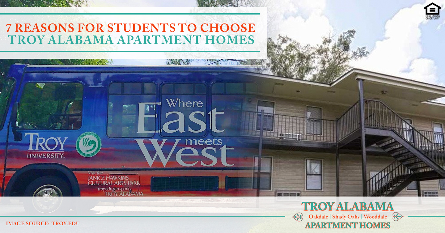 reasons for students to choose Troy Alabama Apartment Homes